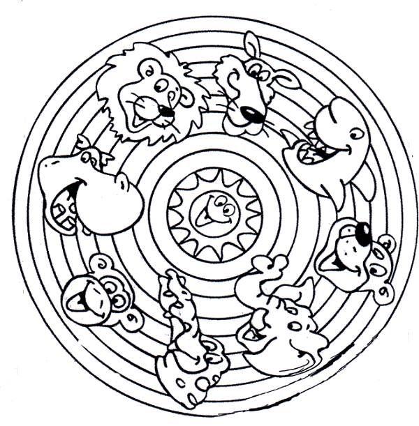 Animals Mandala Coloring Pages | Coloring Supplies | Pinterest ...