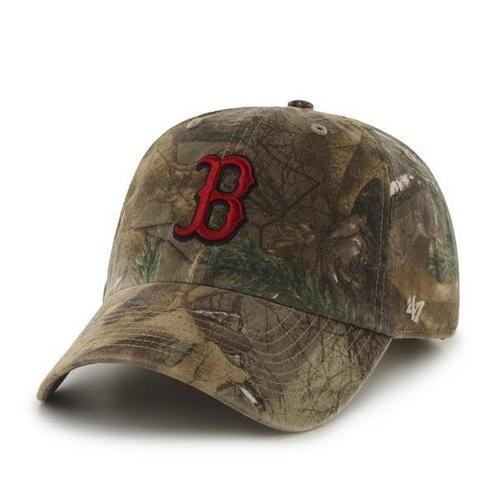 2876b9114186e Adjustable Realtree Boston Red Sox Camo Clean Up Hat