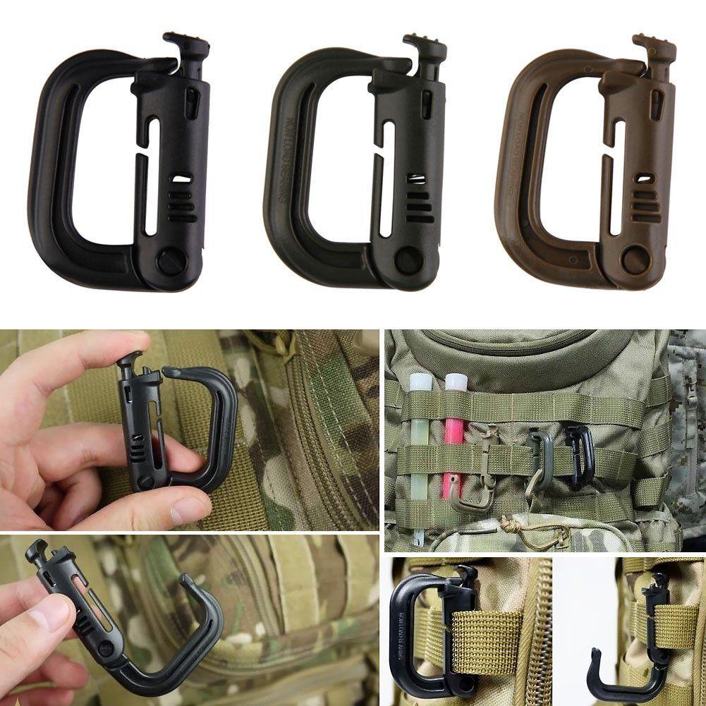 Amazon com: Vktech® Tactical Backpack EDC Shackle Carabiner