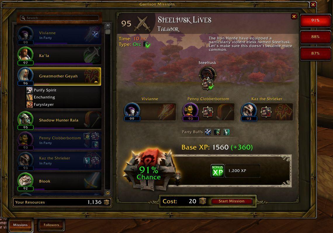 Garrison Mission Manager - Garrison - World of Warcraft