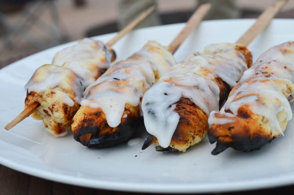 Campfire Cedar Skewered Cinnamon Rolls Recipe