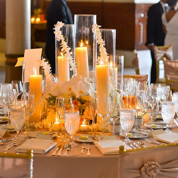 Beautiful table setting for a wedding at The Driskill in Austin, Texas | Photo credit: The Driskill Grill's Chef de Cuisine Skyler Golden
