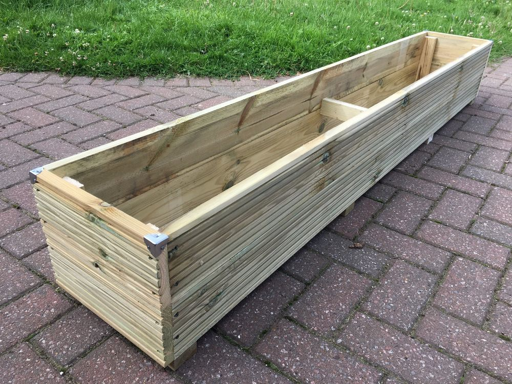 Details About 6Ft Jumbo Extra Large Long Wooden Planter 640 x 480