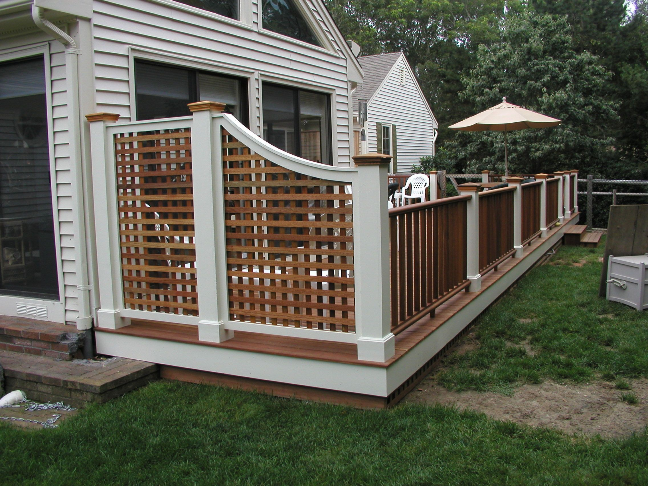 Deck rail privacy screens previous 1 next deck for Deck dividers for privacy