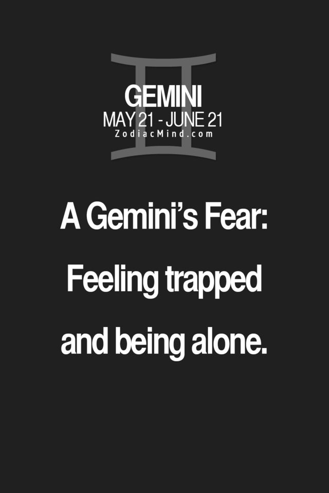 More the trapped part, I can deal with being alone | Gemini | Gemini