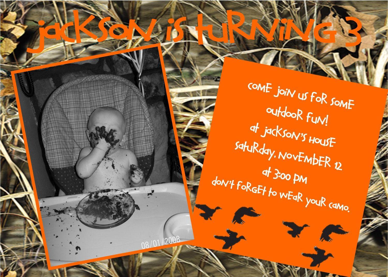 A Little Duck Hunter\'s Birthday Party Printable Invitation | Hunter ...