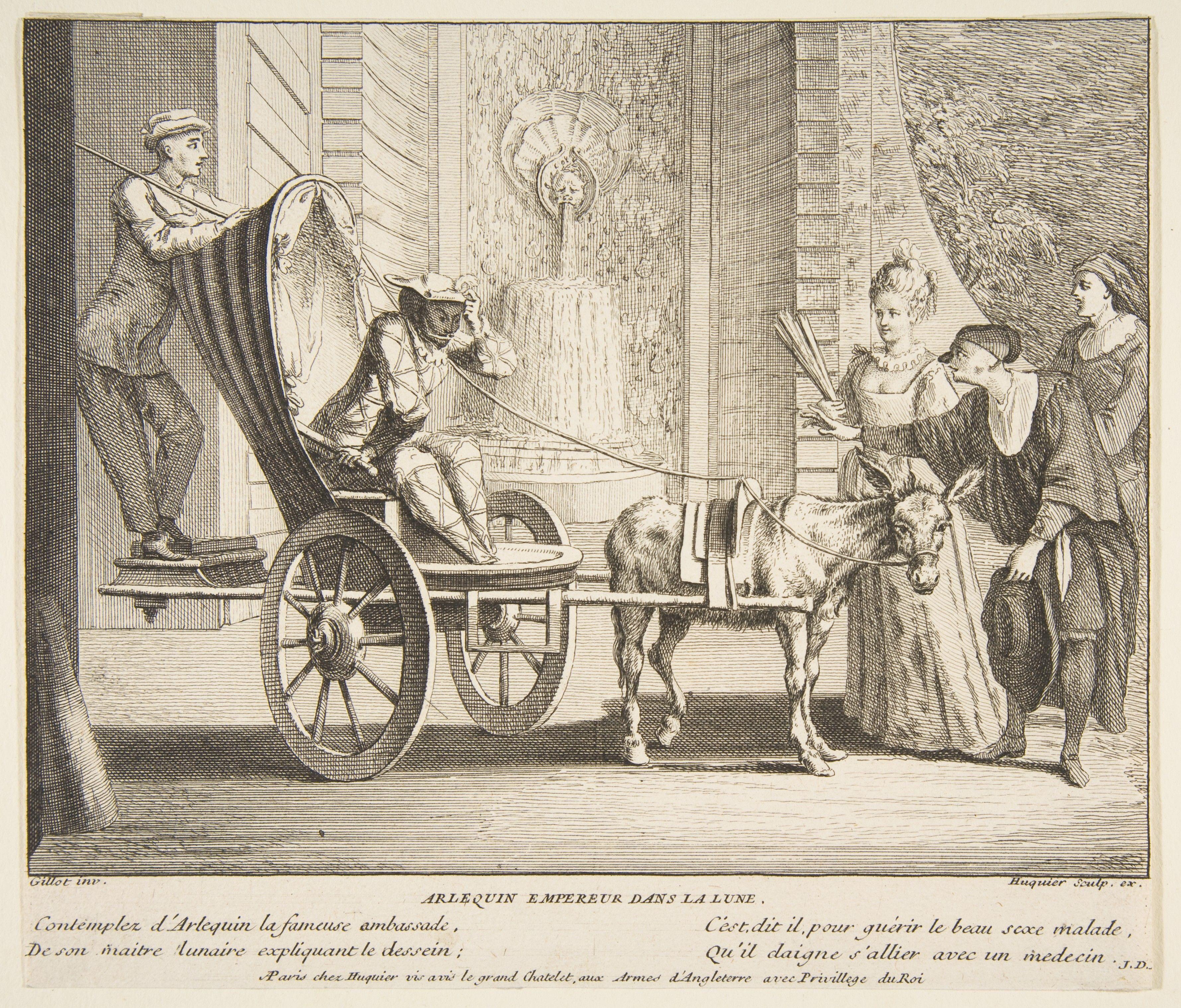 Arlequin empereur dans la lune  Claude Gillot (French, Langres 1673–1722 Paris)   Engraved by Jacques Gabriel Huquier (French, Paris 1730–1805 Shrewsbury)