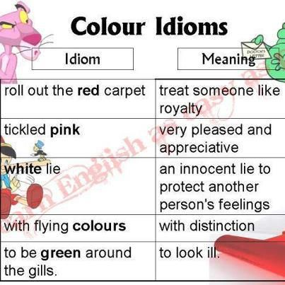 Colour Idioms And Their Meanings Creative And Inspirational Ideas
