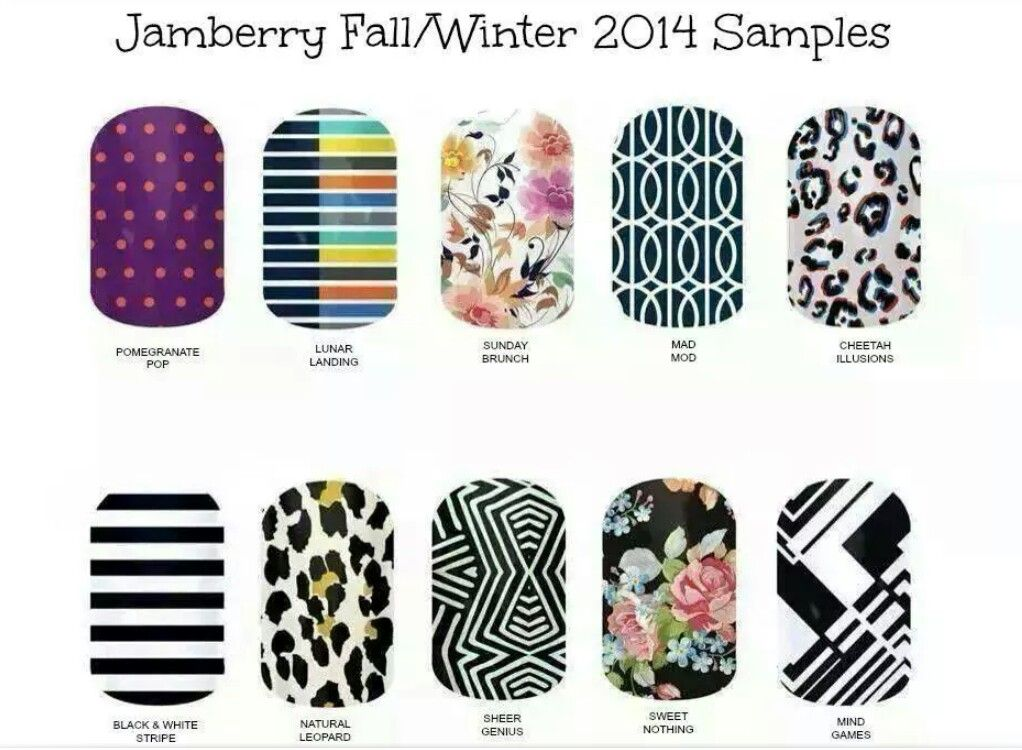 WinterFall  Sample Sheet Names  Jamberry