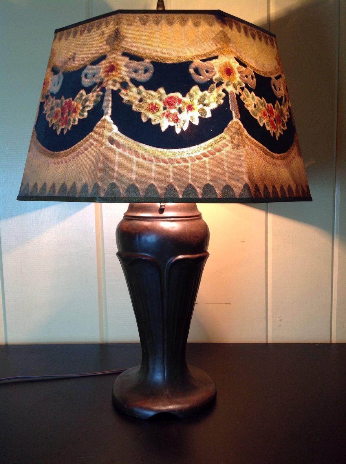Antique Rembrandt Metal Wire Mesh Lamp Shade Art Nouveau Victorian ...