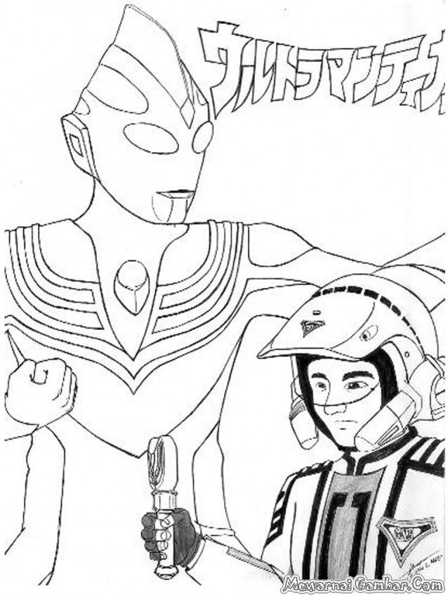 Ultraman Coloring Pages Coloring Page Ultraman In Coloring Style