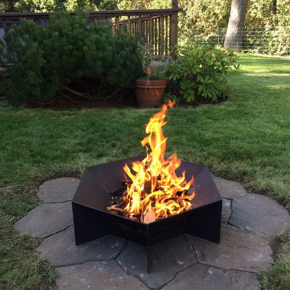Heavy Gauge Hexagonal Corten Steel Fire Pit Free Shipping To Some Areas Fire Pit Cheap Outdoor Fire Pit Steel Fire Pit