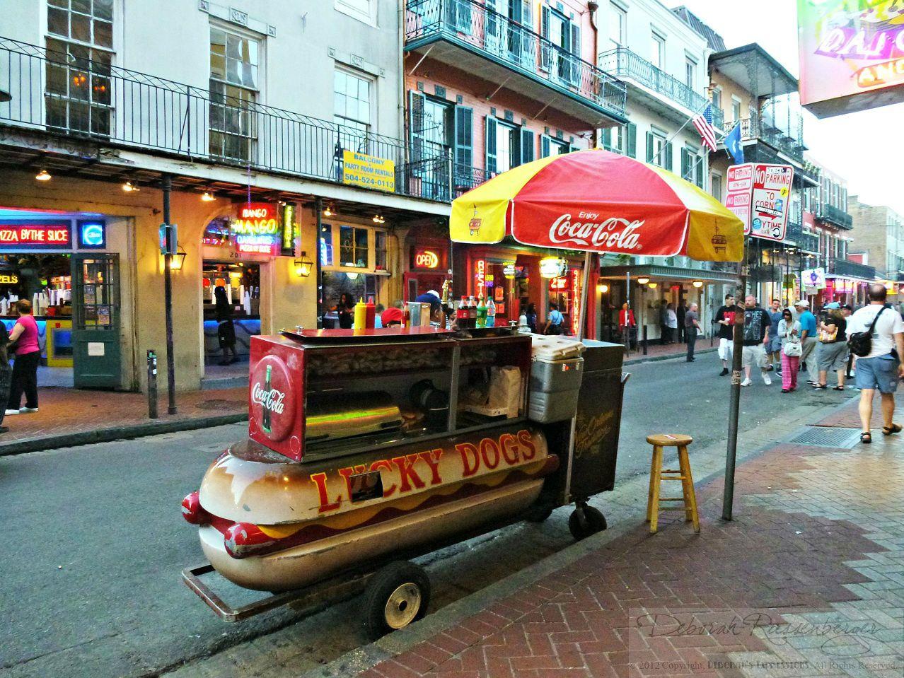 Hot Dog Vendor French Quarter New Orleans New Orleans Big Easy Water Dog
