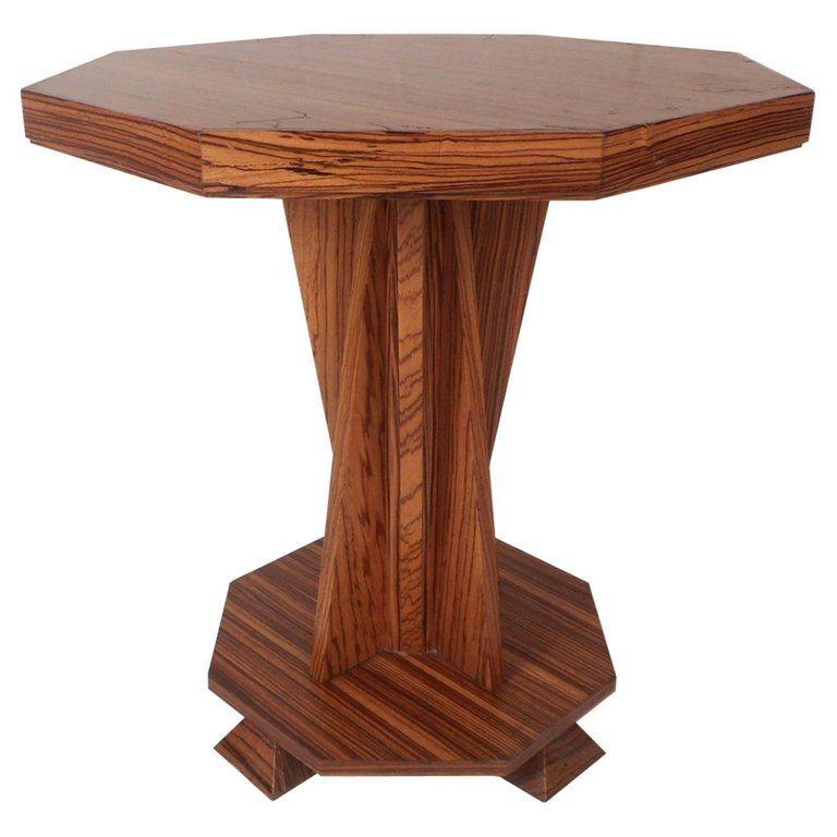 Beautiful Contemporary Modern Custom Made Octagonal End Table Modern Dining Table Modern Interior Circular