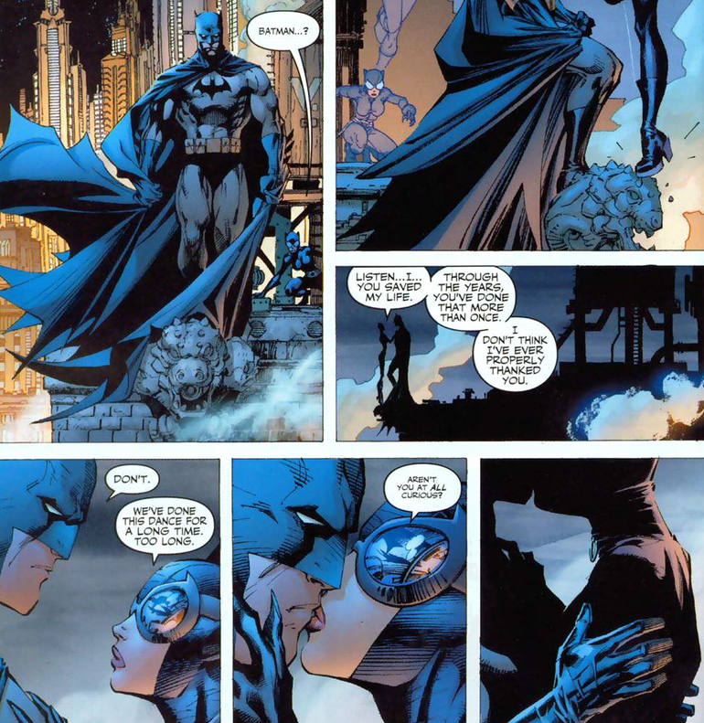 Image result for batman hush catwoman kiss