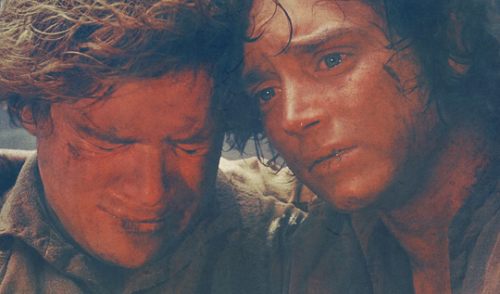 """I'm glad that you are with me, Samwise Gamgee, here at the end of all things"""