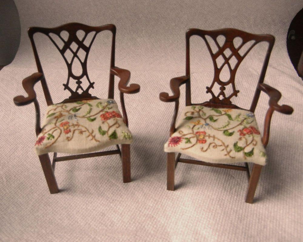 Mobili Chippendale ~ Miniature elizabeth zorn jean kirkwood chippendale crewel work