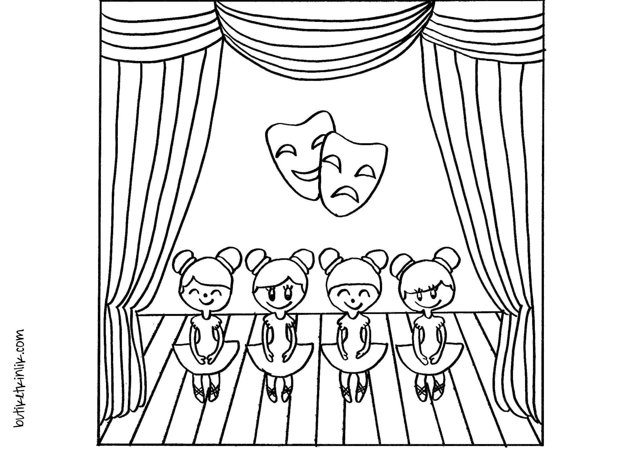 мы идем в театр рисунок лайк