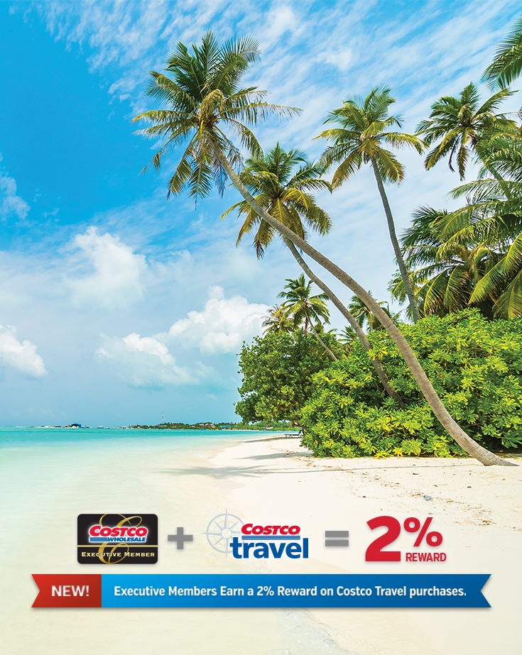 There S A New Benefit Available For Executive Members Costco Travel Purchases Now Included In Your Annual 2 Executive Rew Costco Travel Travel Rewards Travel