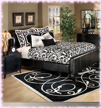 Best Black And White Bedroom Guest Room Future Home 400 x 300
