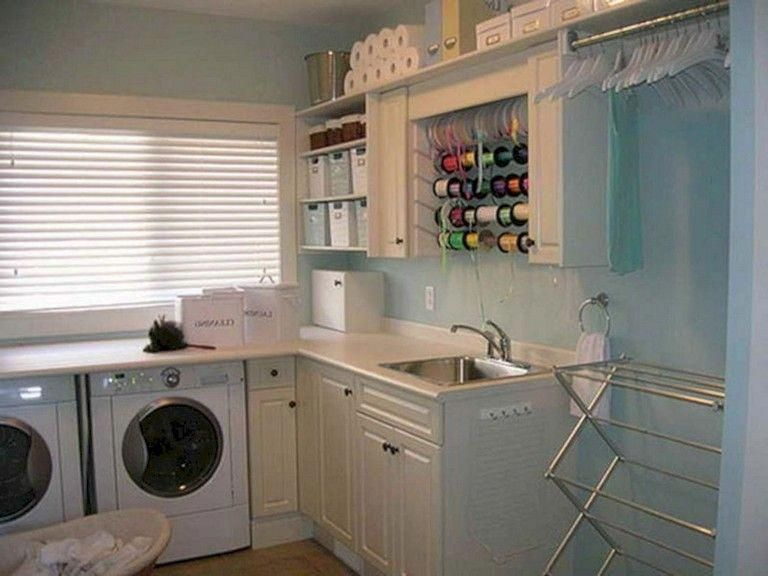 40 extraordinary laundry room decor ideas for small spaces on extraordinary small laundry room design and decorating ideas modest laundry space id=74839