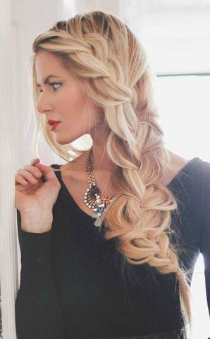 no hay nada como una linda trenza es un peinado prctico y muy femenino - Trenzas Pelo Largo