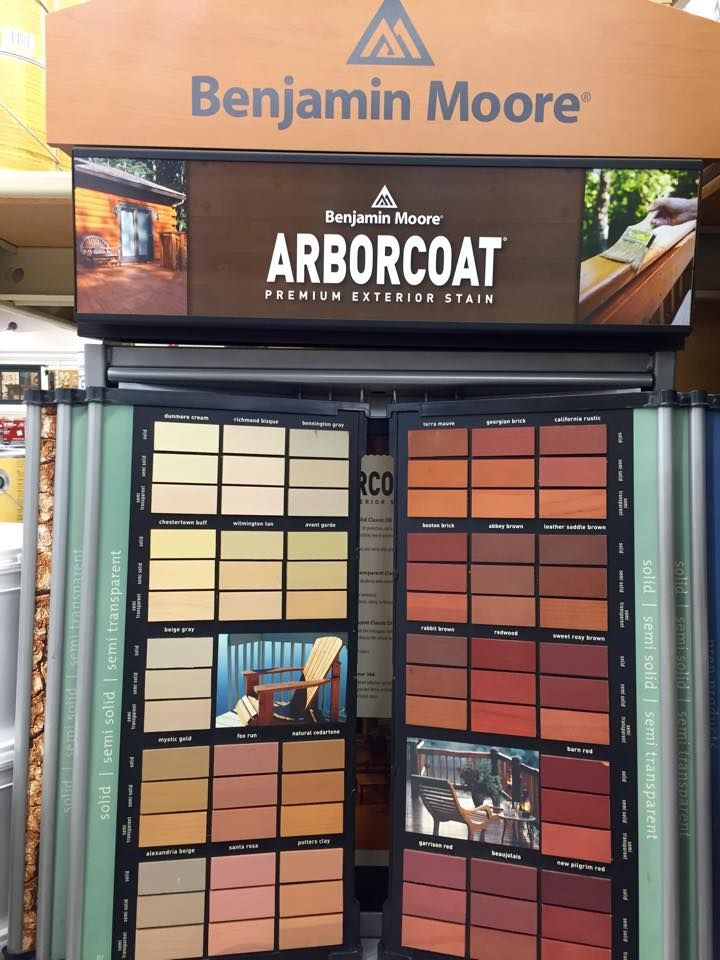 Did You Know Benjamin Moore Arborcoat Exterior Stains Came In Such A Wide Variety Of Colors We Can Help Find Patio Color Schemes Colorful Patio Staining Deck