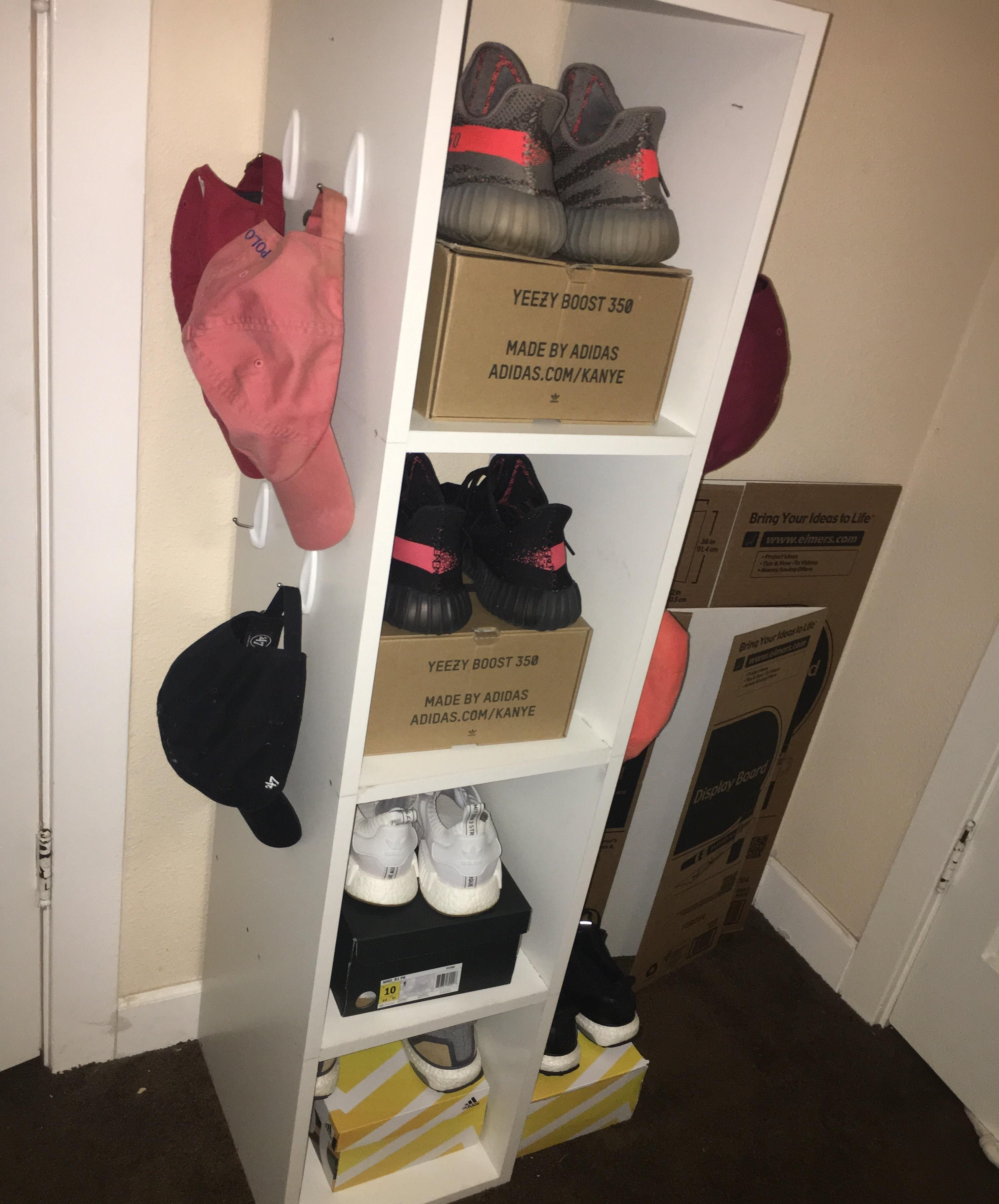 Built a shoe rack today to hold my newest pickup and grails belugas