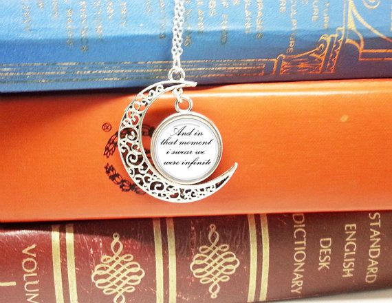Pretty silver plated necklace  Chain 17 inch/ 45cm Moon 1.5 inch/ 4cm Circle 0.7 inch/ 1.8cm