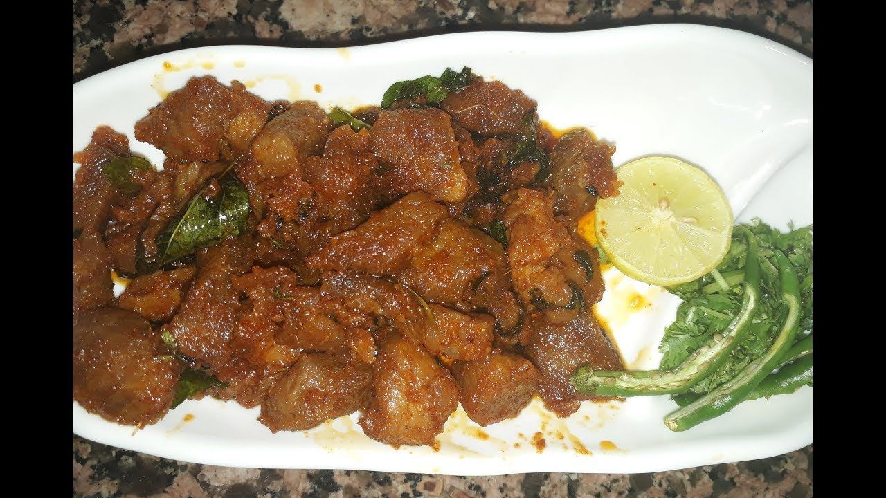 Hyderabadi Kadak Tala Hua Gosht L Crispy Mutton Fry L Sehri Special L No Gosht Recipe Recipes Hyderabadi Cuisine