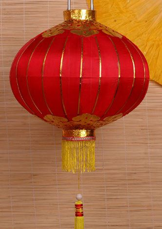 Red glass asian tea light lantern