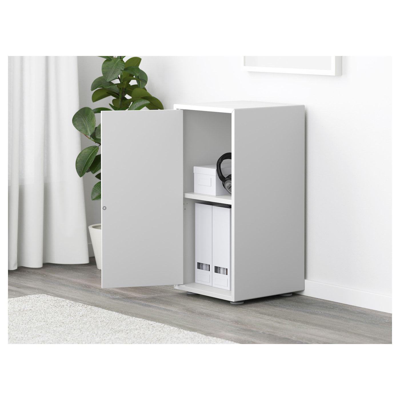 Ikea Eket White Cabinet With Door And Shelf In 2020 Schrankturen