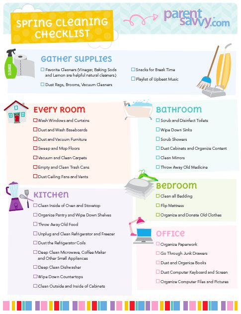 Spring Cleaning Checklist  Parentsavvy  Parentsavvy Blog