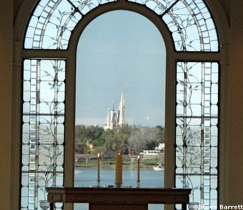 View Of Cinderella S Castle From The Wedding Chapel