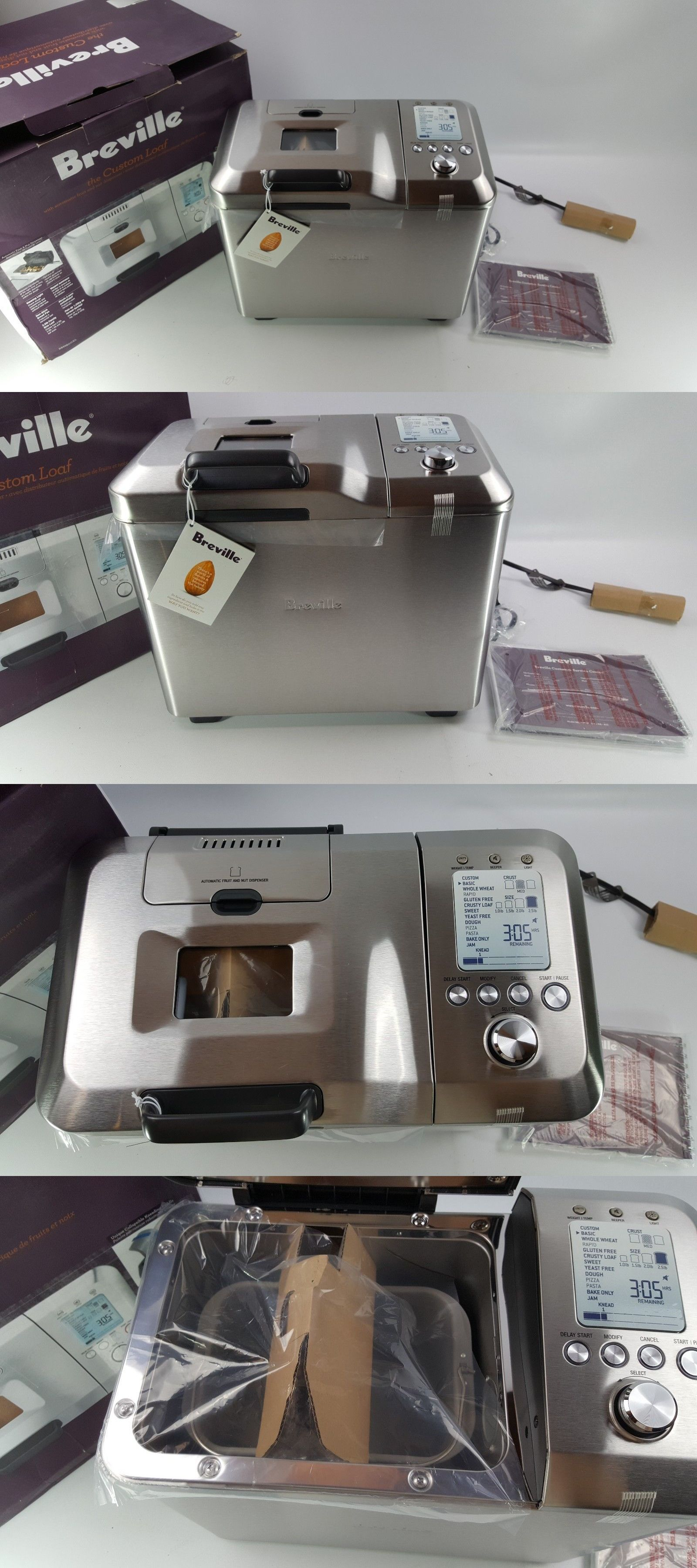 Bread Machines 20669 Breville Bbm800xl Custom Loaf Bread Maker Brand New Open Box Buy It Now Only 150 On Ebay Loaf Bread Bread Maker Bread Machine
