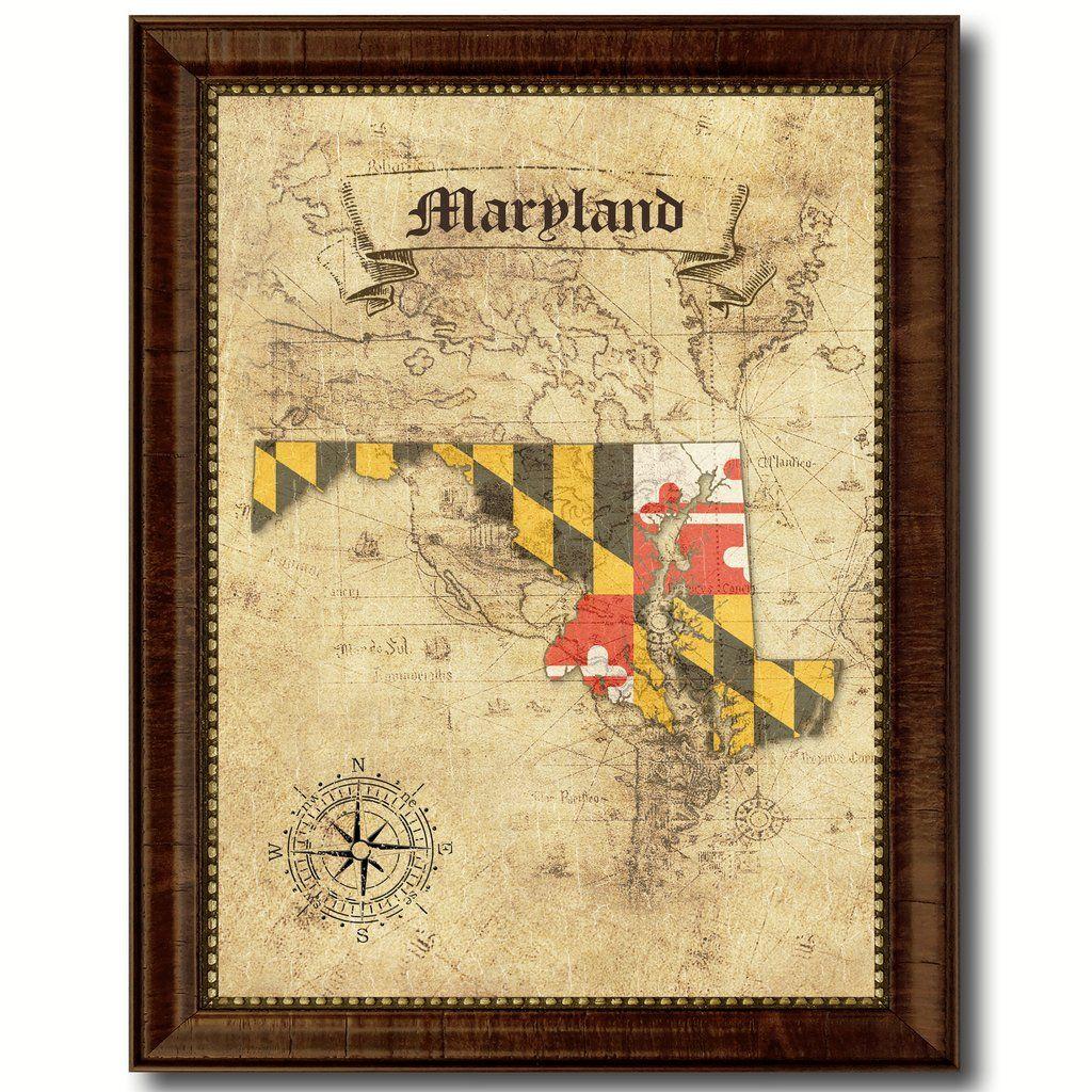 Modern Home Office Designs Office Wall Art Maryland Flag Art Wall Art Gift