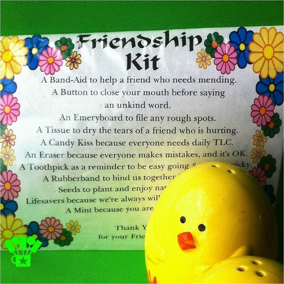 Friendship Survival Kit April Free Printable