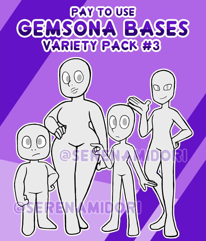 P2u Gemsona Bases Variety Pack 3 By Serenamidori On Deviantart Steven Universe Quotes Steven Universe Drawing Steven Universe Comic