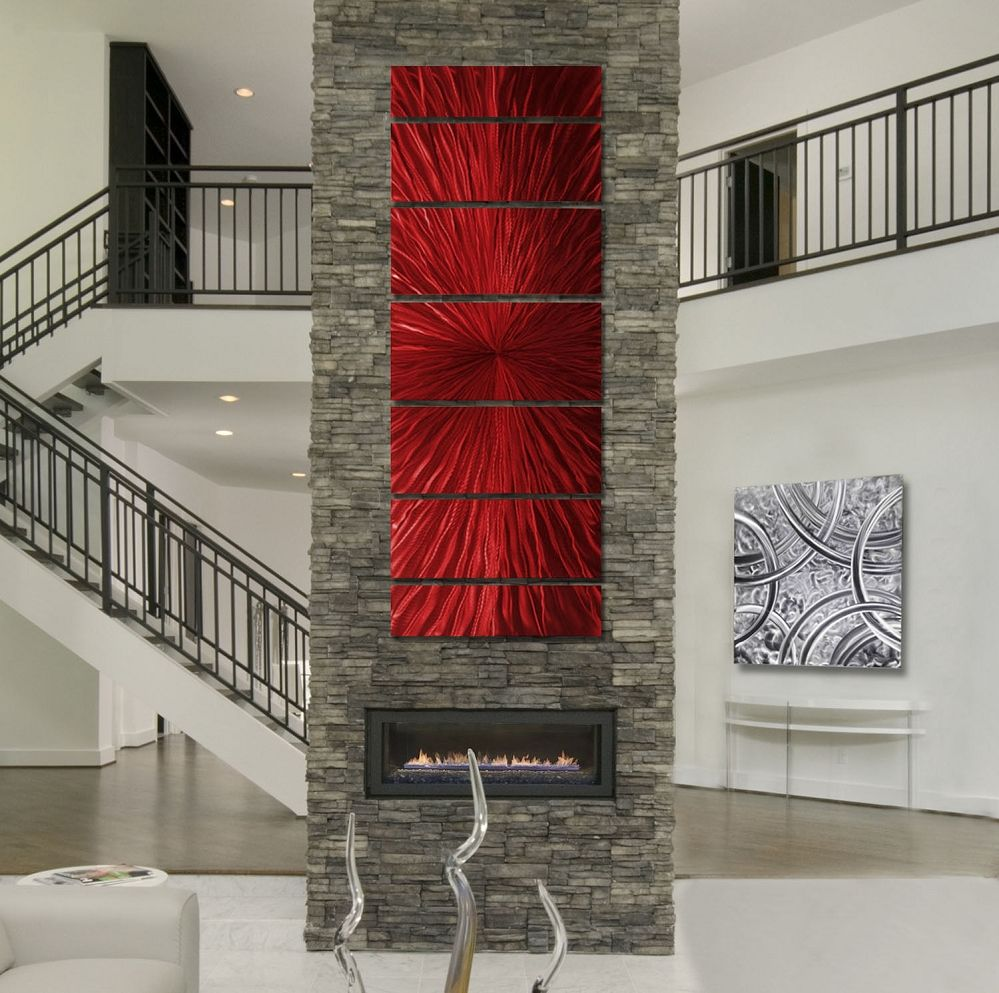 Intensity XL - Extra Large Red Modern Contemporary Metal ...