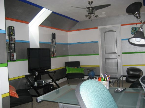 Teen Game Room Ideas Modern Teen Gameroom And Computer Area A