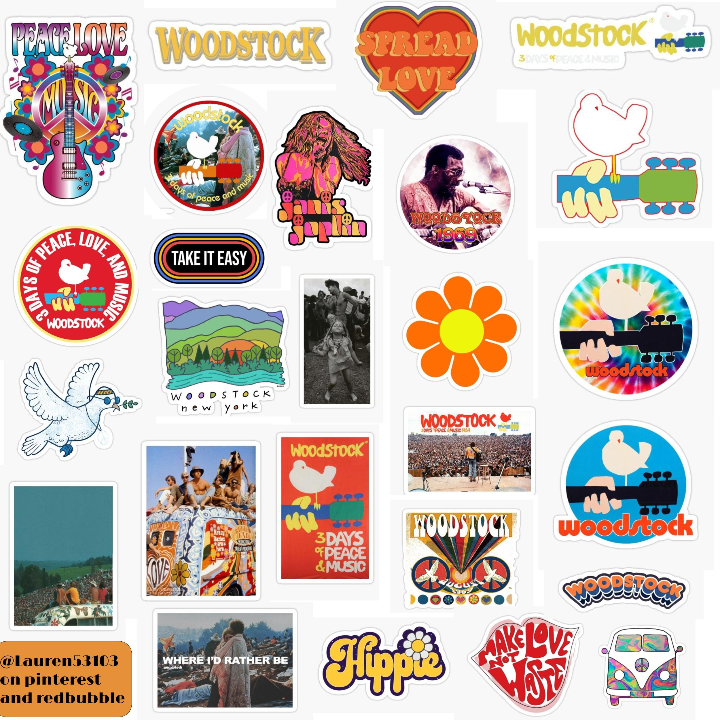 Woodstock Stickers In 2020 Stickers Packs Aesthetic Stickers Stickers