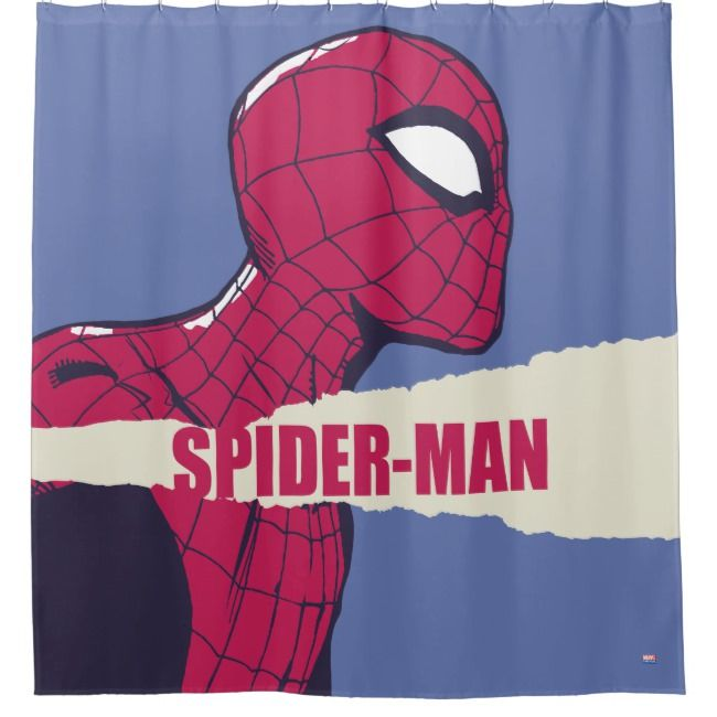 Spider Man Torn Page Name Graphic Shower Curtain Zazzle Com