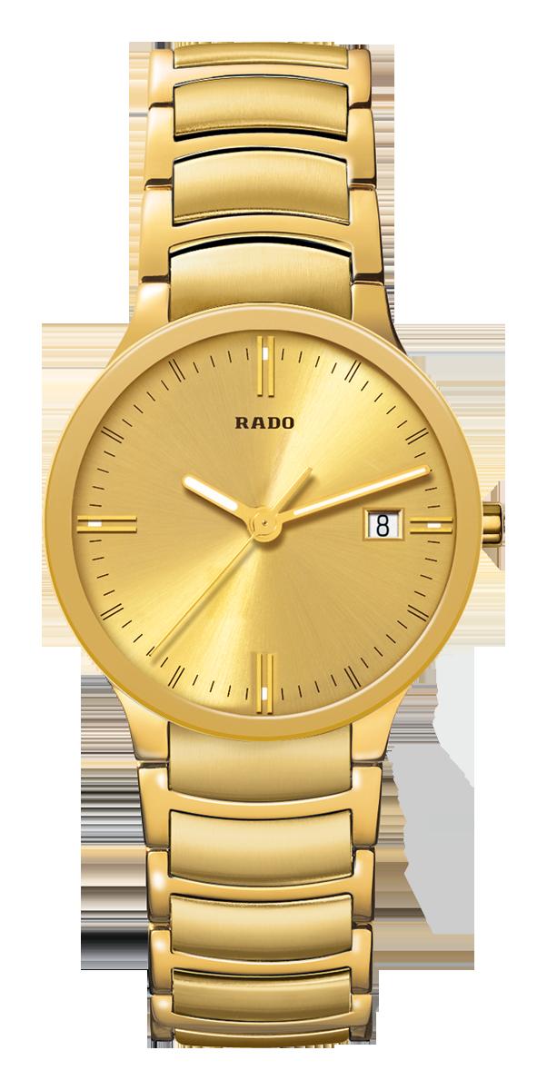ef7db593f RADO Centrix, yellow gold PVD watch. Made in Switzerland. R30527253.  Authorized Rado Dealer. Free CDN shipping