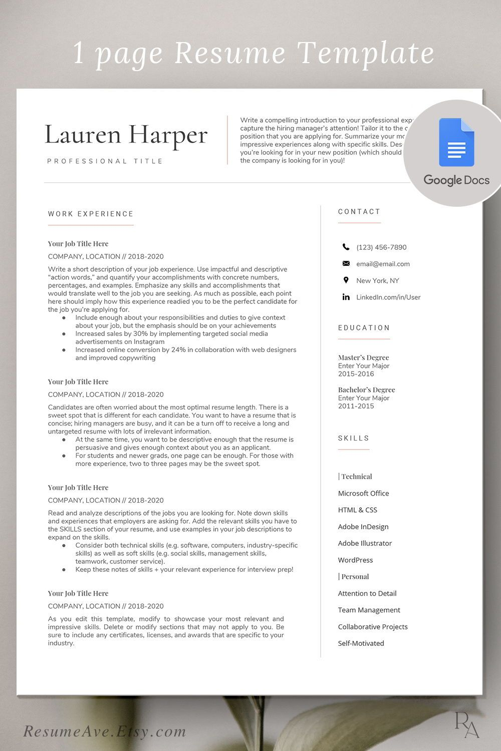 Simple Google Docs Resume Professional Teacher Resume Etsy In 2020 Teacher Resume Template Resume Template Teacher Resume Finding unwanted blank pages in your google docs happens sometimes, especially when working with documents that originated from another source. pinterest
