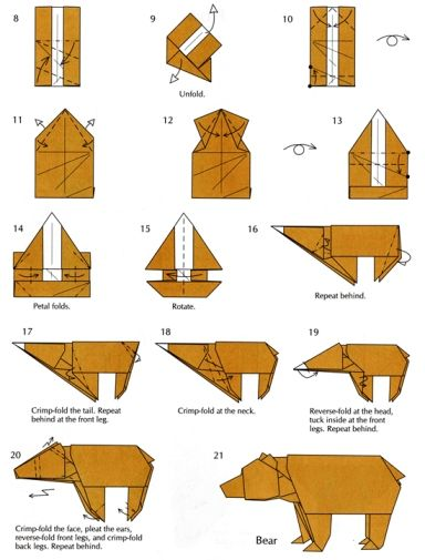 Pin by Luluslittleshop : ) on Origami | Basic origami, Bear ... Origami Bear Diagram on
