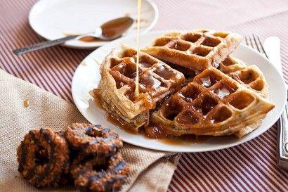 girl scout samoas waffles