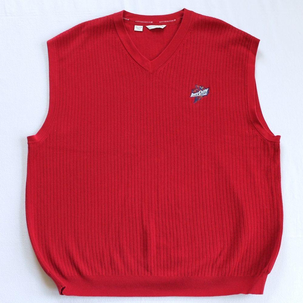 Iowa State University Sweater Vest Sz XXL Red ISU Cyclones Logo V ...
