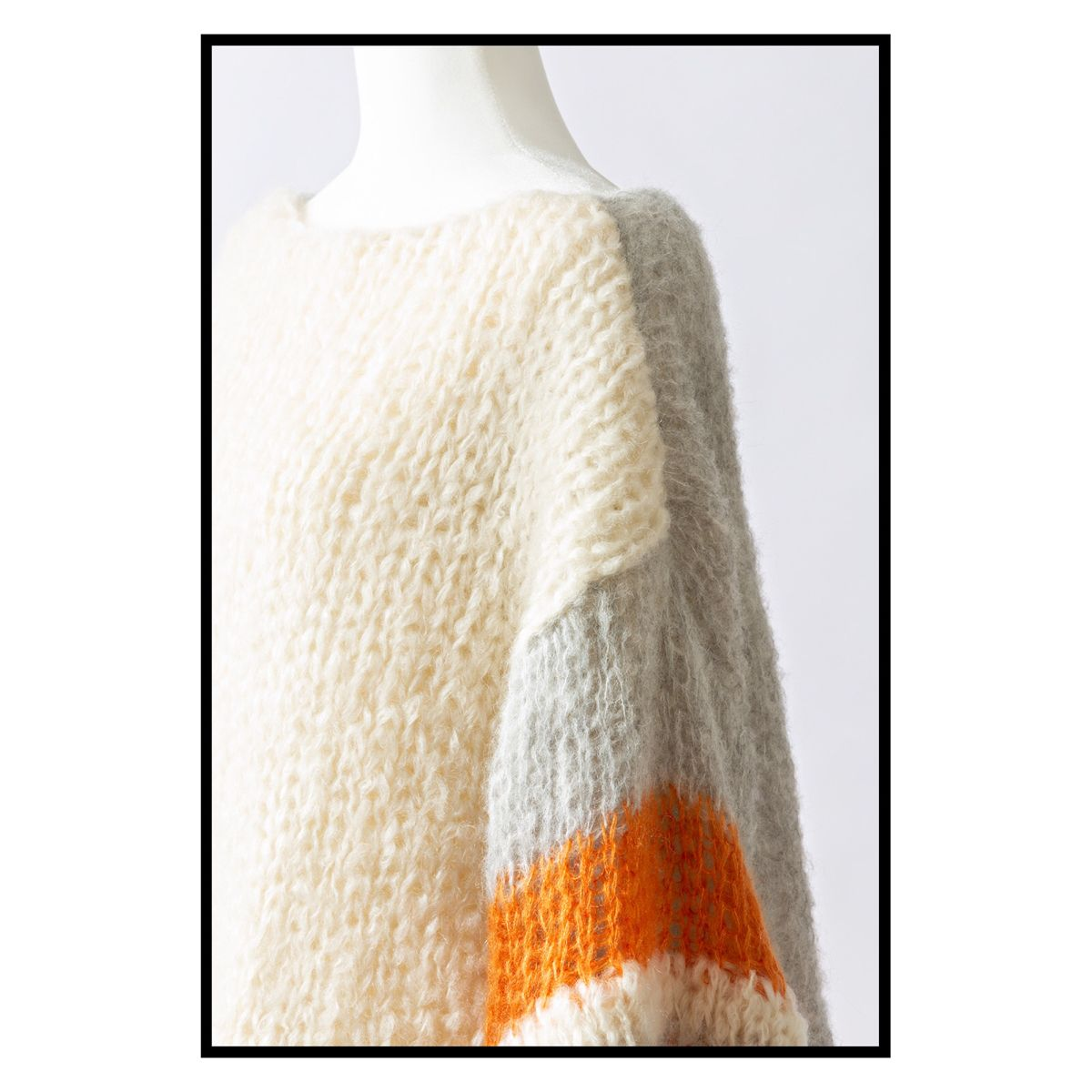Photo of Mohair and alpaca sweater.