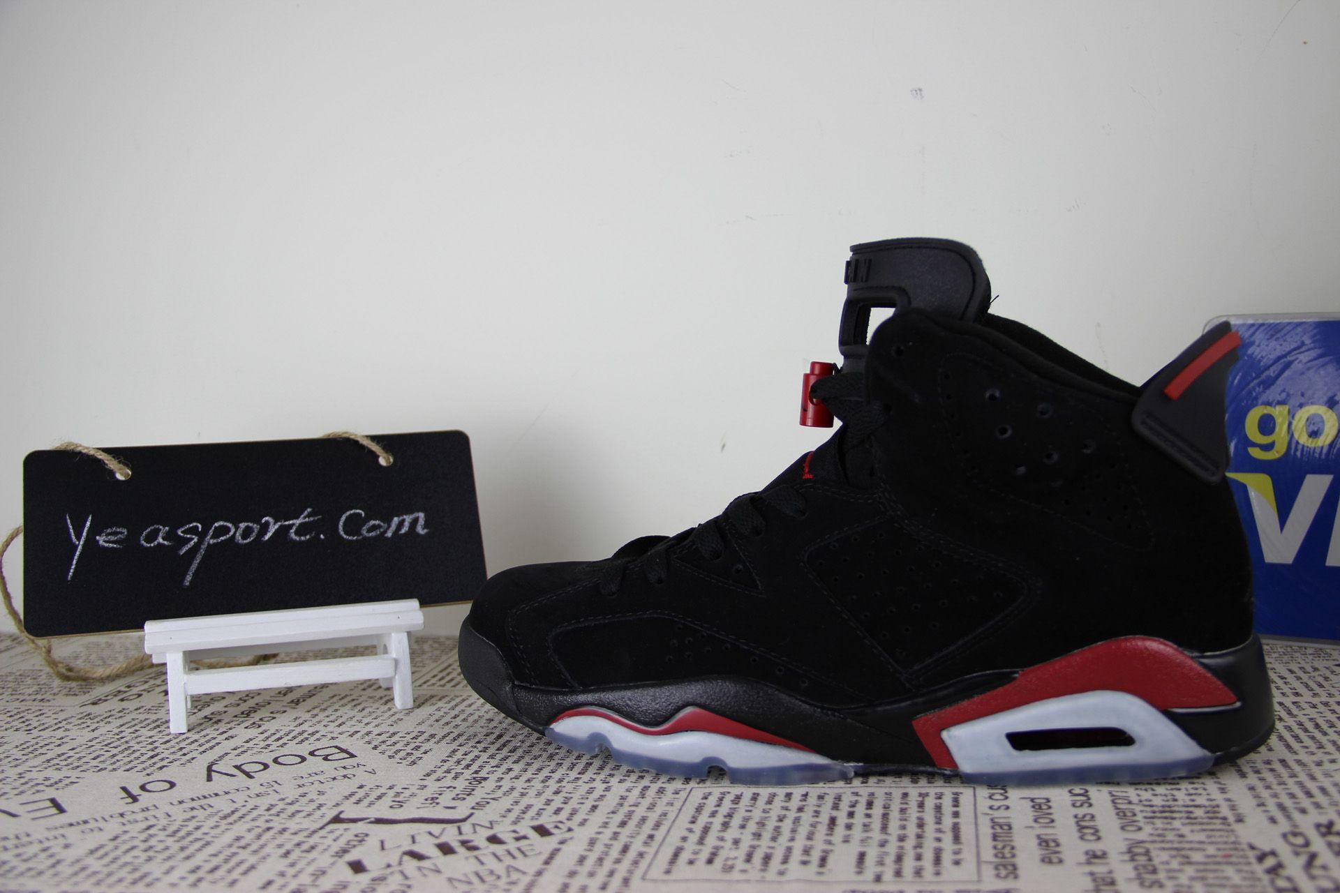 buy popular 6a55f 1ebd6 Air Jordan 6 Retro Black Varsity Red, 384664-061