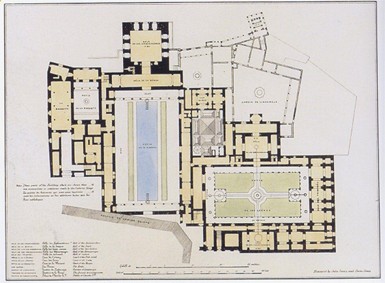 alhambra palace plan jumble of interest pinterest